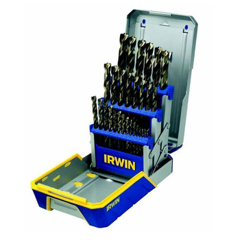 Irwin Hanson 3018003 29-Piece Titanium Metal Index Drill Bit Set
