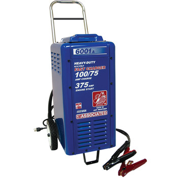 Associated Equipment 6001A 6V/12V Heavy Duty Wheeled Commercial Battery Charger Sale $617.99 SKU: ason6001a ID# 6001A UPC# 99684000383 :