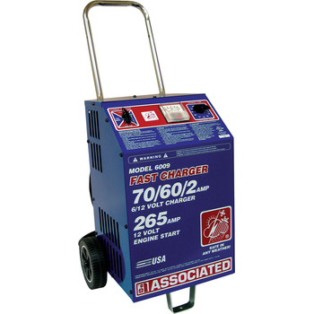 Associated Equipment 6009 6V/12V Heavy-Duty Commercial Fast Battery Charger Sale $419.99 SKU: ason6009 ID# 6009 UPC# 99684000420 :