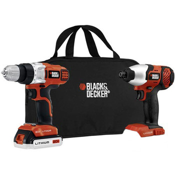 Black & Decker BDCD220IA-1 20V MAX Cordless Lithium-Ion 3\/8 in. Drill Driver & Impact Driver Combo Kit with 1 Battery Pack