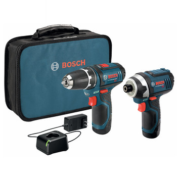 Bosch CLPK22-120 12V Cordless Lithium-Ion 3\/8 in. Drill Driver and Impact Driver Combo Kit