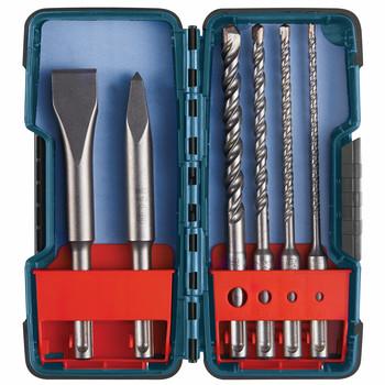 Bosch HCST006 6-Piece SDS-Plus Bulldog Rotary Hammer Bit Set