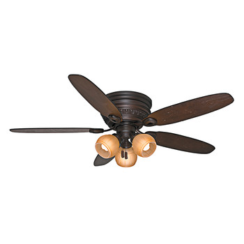 Casablanca 54105 54 in. Caledonia Brushed Cocoa Ceiling Fan with Light