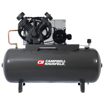 Campbell Hausfeld CE8000 10 HP Two-Stage 120 Gallon Oil-Lube 3 Phase Stationary Horizontal Air Compressor Sale $2549.99 SKU: CBHNCE8000 ID# CE8000 UPC# 45564627188 :