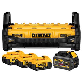 Dewalt DCB1800M3T1 Portable Power Station with (3) 20V MAX 4.0 Ah & (1) FLEXVOLT 6.0 Ah Batteries