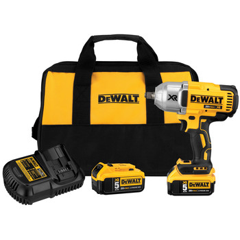 Dewalt DCF899HP2 20V MAX XR Cordless Lithium-Ion 1/2 in. Brushless Friction Ring Impact Wrench with 2 Batteries