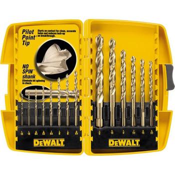Dewalt DW1169 14-Piece Pilot Point and Drill Bit Set
