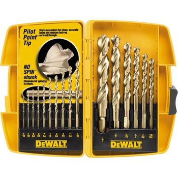 Dewalt DW1956 16-Piece Pilot Point and Drill Bit Set