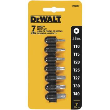 Dewalt DW2067 7-Piece 1 in. Torx and Bit Set