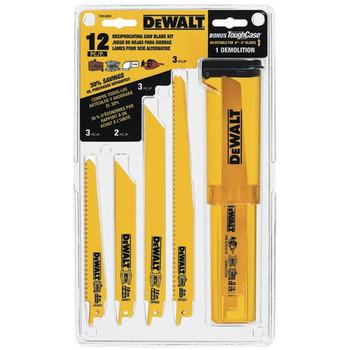 Dewalt DW4892 12-Piece Reciprocating Saw Blade Set with Telescoping Case