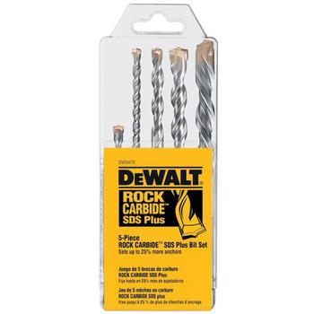 Dewalt DW5470 5-Piece Rock Carbide and SDS-plus Drill Bit Set