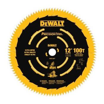 Dewalt DW72100PT 12 in. 100 Tooth Precision Trim Ultra-Smooth Crosscutting Saw Blade