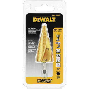 Picture of Dewalt DWA1789IR 78 in - 1-18 in Impact Ready Step Drill Bit