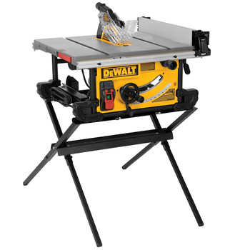 Dewalt DWE7490XR 10 in. 15 Amp Site-Pro Compact Jobsite Table Saw with Scissor Stand