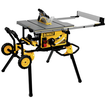 Dewalt DWE7491RSR 10 in. 15 Amp Site-Pro Compact Jobsite Table Saw with Rolling Stand
