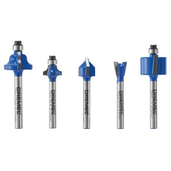 Dremel TR780 5-Piece Carbide Specialty Router Bit Set