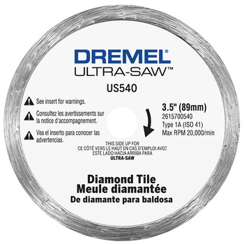 Dremel US540-01 3-1/2 in. Tile Diamond Blade