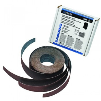 Delta 31-486 25 in. Assorted-Grit Drum Sander Aluminum Oxide Sanding Strips (3-Pack)