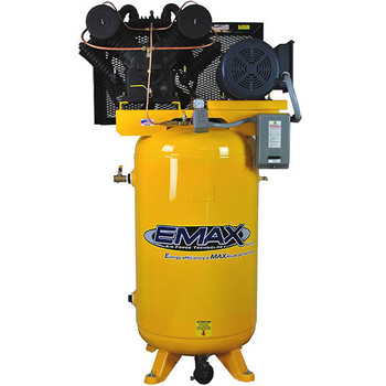 EMAX EP07V080V3 80 Gallon 7.5 HP 2-Stage 3-Phase Vertical Air Compressor Sale $2719.99 SKU: eaxnep07v080v3 ID# EP07V080V3 UPC# 815002010144 :