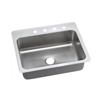 Elkay DSESR127221 Dayton Elite Universal Mount 27 in. x 22 in. Single Basin Kitchen Sink (Steel)