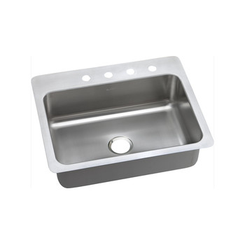 Elkay DSESR127223 Dayton Elite Universal Mount 27 in. x 22 in. Single Basin Kitchen Sink (Steel)