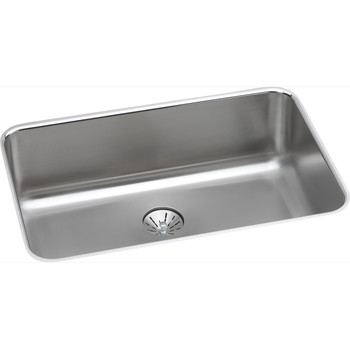 Elkay ELUH2416PD Gourmet Undermount 26-1/2 in. x 8 in. Single Basin Kitchen Sink (Stainless Steel)