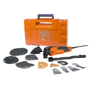 Fein 72295261090 Multimaster Oscillating Multi-Tool with Hard Case and Top Accessory Package