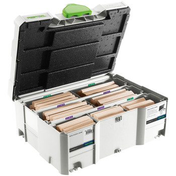 Festool 498205 Domino XL 12mm/14mm Tenons and Cutter in T-Loc Systainer