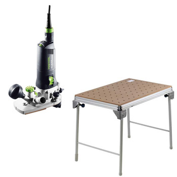 Festool C34500608 MFK 700 EQ Edge Banding Router  MFT/3 Basic Multi-Function Work Table