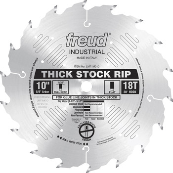 Freud LM71M010 10 in. 18 Tooth Thick Stock Rip Saw Blade