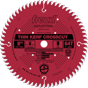 Freud LU74R008 8 in. 64 Tooth Thin Kerf Ultimate Cut-Off Saw Blade