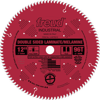 Freud LU97R012 12 in. 96 Tooth Double-Sided Laminate/Melamine Saw Blade