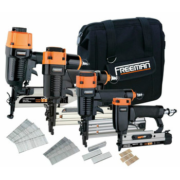 Freeman P4FNCB Finishing Stapler and Nailer 4-Tool Combo Kit