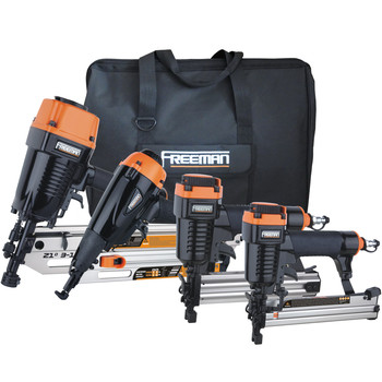 Freeman P4FRFNCB Framing and Finishing 4-Tool Combo Kit Sale $229.00 SKU: fmnnp4frfncb ID# P4FRFNCB UPC# 816376010198 :