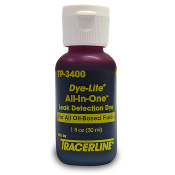 Tracerline TP3400 1 oz. Die-Lite All-In-One Full-Spectrum Fluorescent Dye (6-Pack)