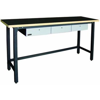 Homak GS00579030 79 in. 3 Drawer Wood Top Workbench