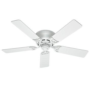 Hunter 53069 52 in. Low Profile III White Ceiling Fan