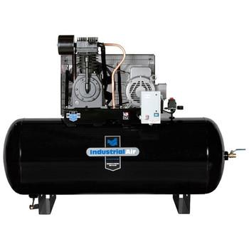 Industrial Air IH7519975 230V 7.5 HP 120 Gallon Single Phase Oil-Lube Horizontal Air Compressor Sale $2499.99 SKU: idanih7519975 ID# IH7519975 UPC# 846212024058 :