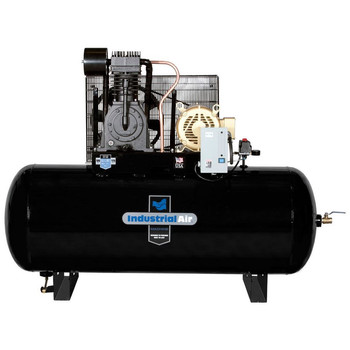 Industrial Air IH7539975 230V 7.5 HP 120 Gallon 3-Phase Oil-Lube Horizontal Air Compressor Sale $2499.99 SKU: idanih7539975 ID# IH7539975 UPC# 846212024065 :