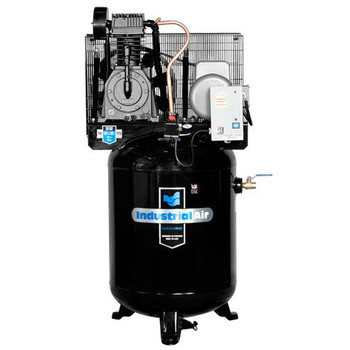 Industrial Air IV5016055 5 HP 230V 60 Gallon Baldor Industrial Vertical Stationary Air Compressor Sale $1799.99 SKU: idaniv5016055 ID# IV5016055 UPC# 846212023990 :