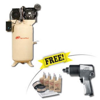 Ingersoll Rand 2475N7.5-PTS Electric 2-Stage 80 Vertical 7.5 HP Compressor with Air Impact Wrench & Start Up Kit Sale $2657.99 SKU: ircn2475n7.5-pts ID# 2475N7.5-PTS :