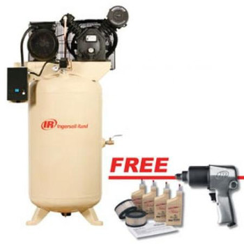 Ingersoll Rand 2475N7.5-V1 7.5 HP 230/1 2-Stage Cast Iron Air Compressor Sale $2417.99 SKU: ircn2475n7.5-v1 ID# 2475N7.5-V1 :