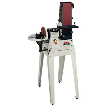 JET 708596K 6 in. x 48 in. Belt / 9 in. Disc Combination Sander with Open Stand