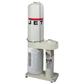 JET 708642BK 1 HP 650 CFM Dust Collector with 30-Micron Bag