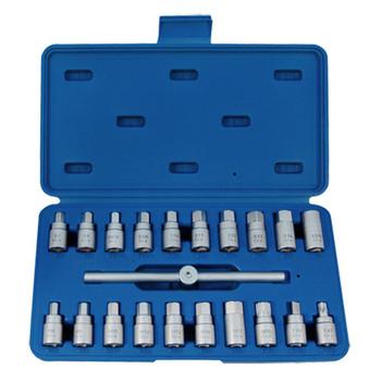 King Tony 9AR11 21-Piece Oil Drain Plug Key Set
