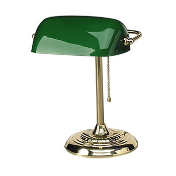 Picture of Alera L557BR 14 in Traditional Incandescent Banker's Lamp Green