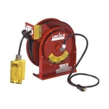 Lincoln Industrial 91032 12 AWG 45 ft. Heavy-Duty Power Cord Reel