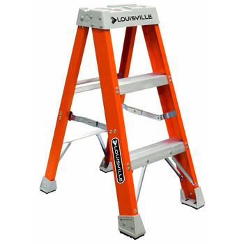 Picture of Louisville FS1503 3 ft Type IA Duty Rating 300 lbs Load Capacity Fiberglass Step Ladder