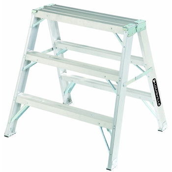 Picture of Louisville L-2032-03 3 ft Type IA Duty Rating 300 lbs Load Capacity Aluminum Sawhorse Ladder