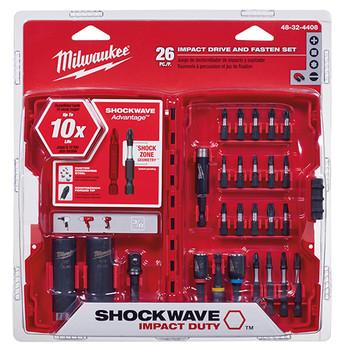 Milwaukee 48-32-4408 26-Piece Shockwave Drive and Fasten Bit Set